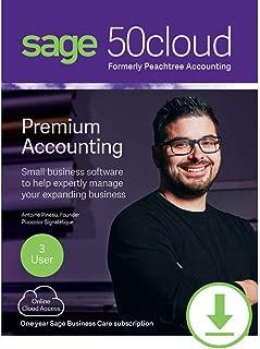 Sage 50cloud Premium Accounting 2019 3 User [PC Download]