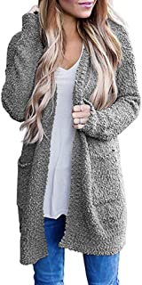 Women's Casual Cardigan Sweater Loose Long Cardigans with Pockets Winter Plush Tops