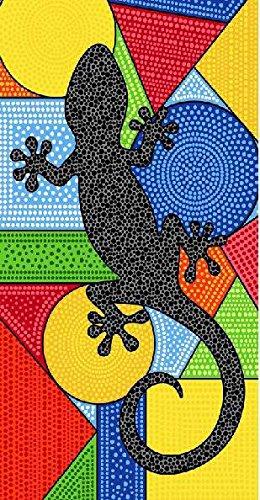 Asditex Toalla Playa Microfibra Estampada - 100 x 180 cm - Salamandra