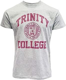 Grey Burgandy Trinity College Crest T-Shirt