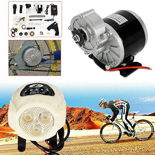 Kit di conversione per biciclette elettriche, 24 V, 350 W, per biciclette elettriche da 22 a 28 pollici