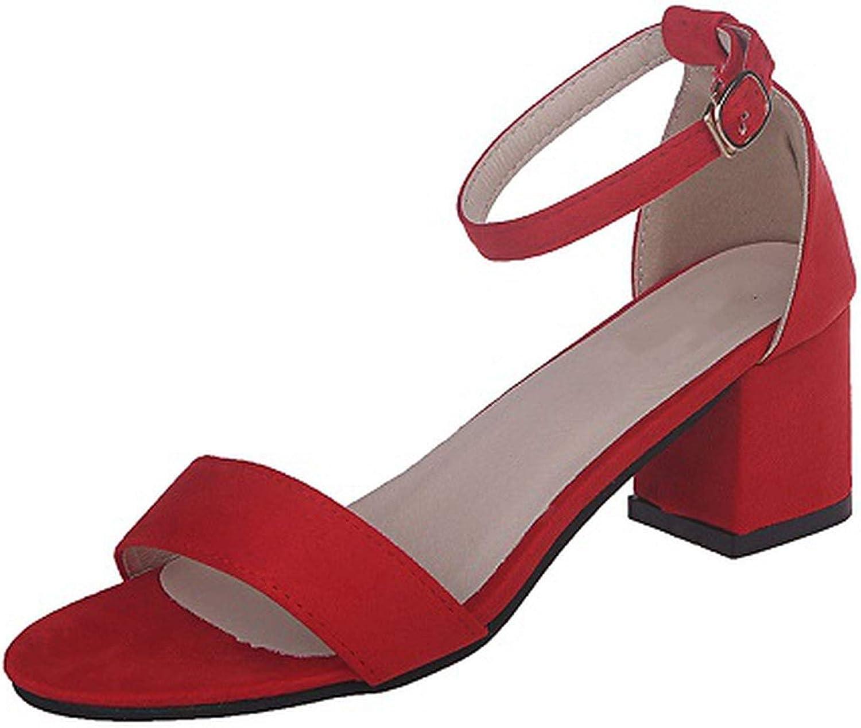 HANBINGPO Plus Size 43 Ankle Strap Heels Sandals Women Leopard shoes Red Yellow Pumps Gladiator Platform