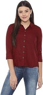 People Women's Regular Fit Shirt