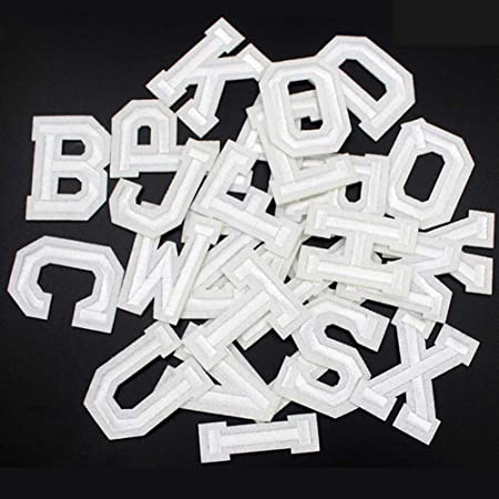Black Letters Patch Alphabet Embroidered Applique Colorful Letters sew on Patches