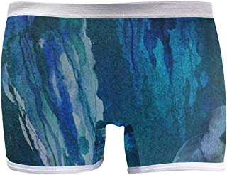 Mens Soft Breathable Abstract Marble Stone Underwear Boxer Briefs