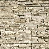 rivestimento pietre d'arredo realizzato con elementi di finitura in vera pietra ricostruita. linea sakar colore crema. dimensione cm. 20/30/50x10 h. unità di vendita scatola da 0,50 metri quadrati.