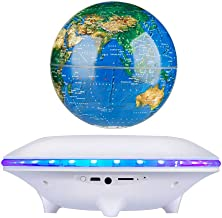 RONSHIN Globe Sound Magnetic Suspension Speaker Light Rotation Wireless Bluetooth Mini Subwoofer white