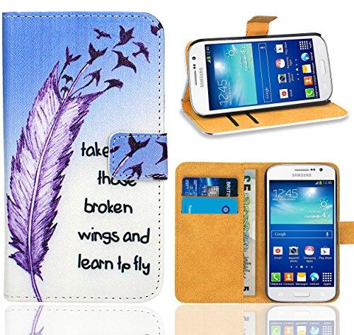 Samsung Galaxy Grand Neo / Grand Neo Plus Handy Tasche, FoneExpert® Wallet Hülle Flip Cover Hüllen Etui Ledertasche Lederhülle Premium Schutzhülle für Samsung Galaxy Grand Neo / Grand Neo Plus (Pattern 7)