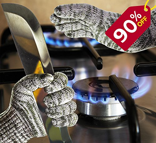 SILACH All-in-One Cooking Gloves Cut Flame Vibration Resistant - KEEP YOU AND YOUR FAMILY HANDS SAFE...