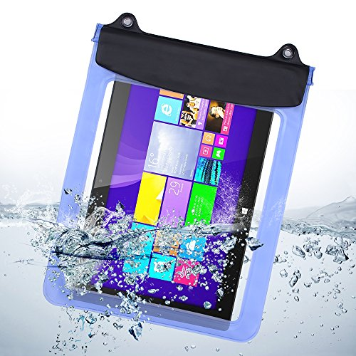 eBuymore 9.7'' 10.1'' 10.5'' 10.8'' Tablets iPad Waterproof Pouch Bag Case for iPad Air 2 / Samsung Galaxy Tab S 10.5'' / Tab Pro 10.1''/ Microsoft Surface RT 10.6' (Blue)