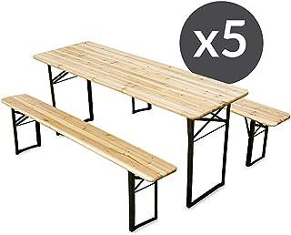 Amazonfr Table Et Banc En Bois 500 Eur Et Plus Jardin