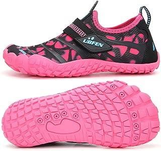 UBFEN Water Shoes for Kids Boys Girls Aqua Socks Barefoot Beach Sports Swim Pool Quick Dry Lightweight Toddler Little Kid