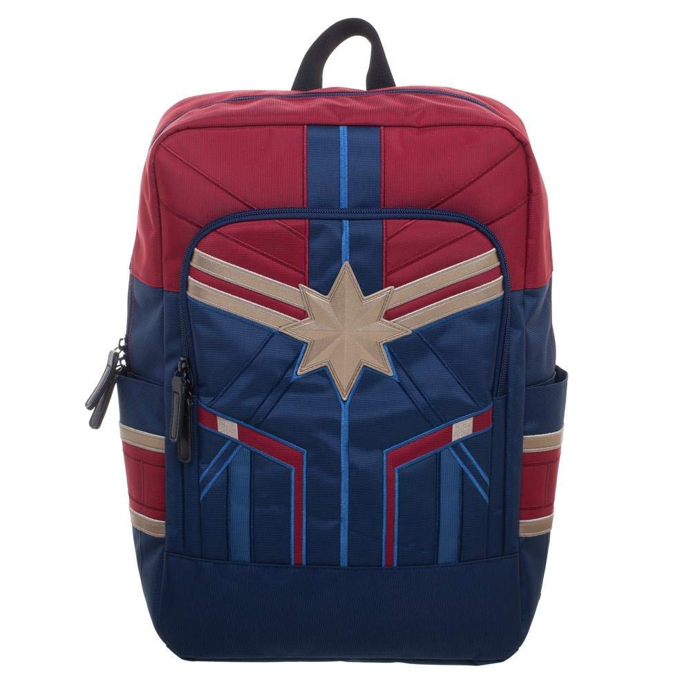 Bioworld Captain Marvel Carol Danvers Crossbody Brown Faux Leather Bag