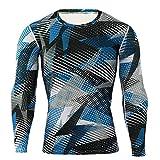 Pistaz - Conjunto de ropa interior para hombre, camiseta de deporte, media, capa de base térmica para invierno, camisas de compresión de manga larga para hombre
