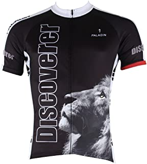 Paladinsport Men's Discovery African Lion And Buffalo Black Bike Clothes