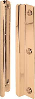 Prime-Line Products U 9512 Prime Line Latch Guard, for Use with in-Swinging Doors, Steel, Plated, 6 in L, Brass