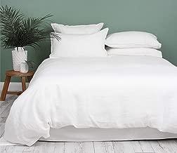Kotton Culture Premium Duvet Cover Set 3 Piece with Zipper & Corner Ties 100% Egyptian Cotton 600 Thread Count Luxurious 1 Duvet Cover 2 Pillow Shams (Queen/Full, White)