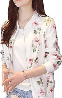 Energy Women's Long-Sleeve Leisure Pockets Baggy Printed Zip Outwear Jacket