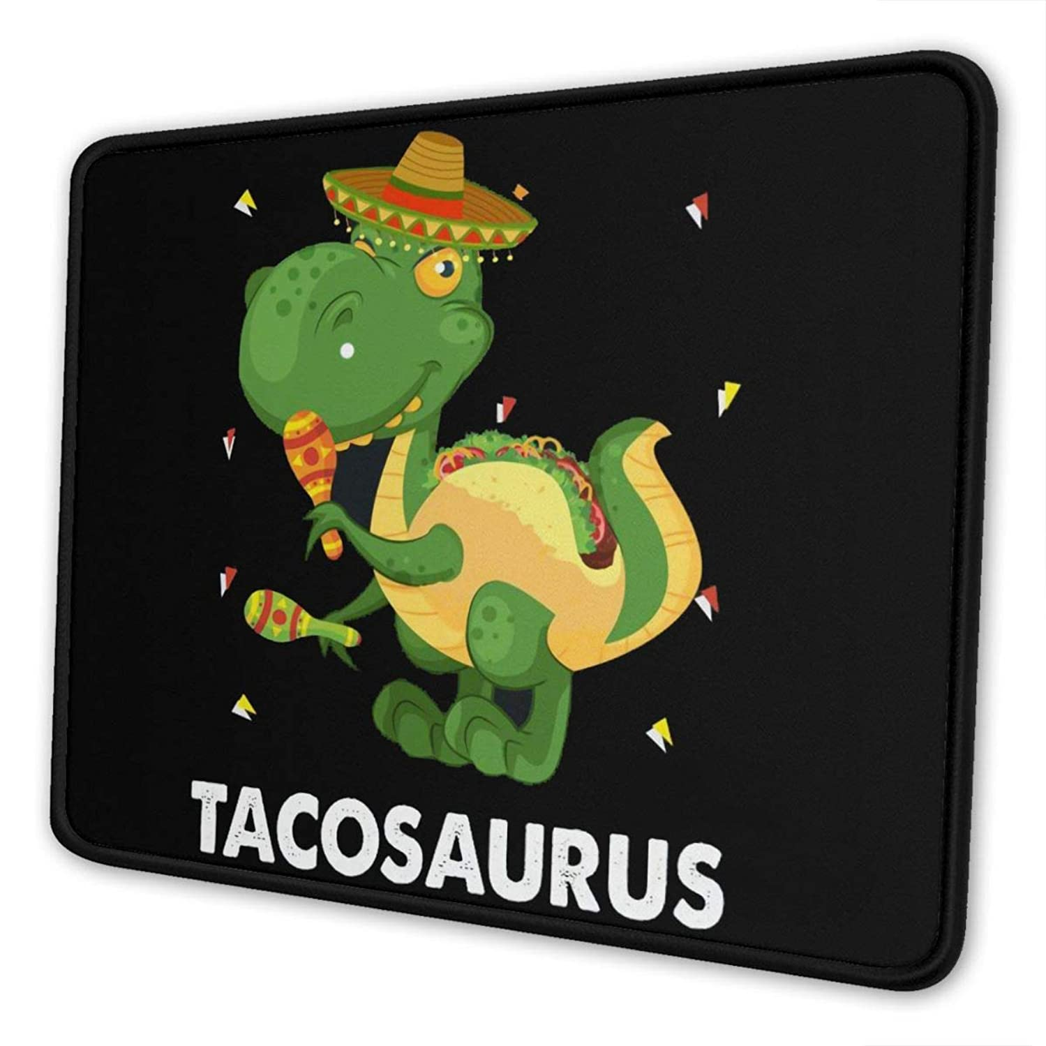 Dinosaur Taco Shirt Mini Themed Office Gaming Mouse Pad Gamer Computer Accessories Cool Mat Small for Girl Boy Kid Women Men Home Decor Merchandis Items