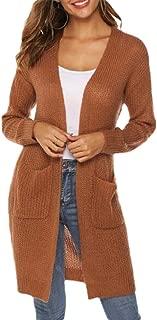 Women Open Front Cardigan Long Sleeve Knit Lightweight Sweaters