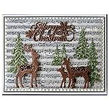 Cutting Dies - Christmas Deer Dies Metal Dies Cutting for Scrapbooking album Decorative Embossing Hand-on Christmas Cards Making Craft Dies ()