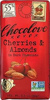Chocolove Cherries & Almonds in Dark Chocolate Bar, 3.2 Ounce (Pack of 12)