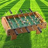 Mini futbolín futbolín, 2 pelotas, 6 barras, para niños, adultos, aspecto de madera, robusto, futbolín, futbolín de fútbol como práctico protector de mesa, 50 x 30 x 50 cm (largo x ancho x alto)
