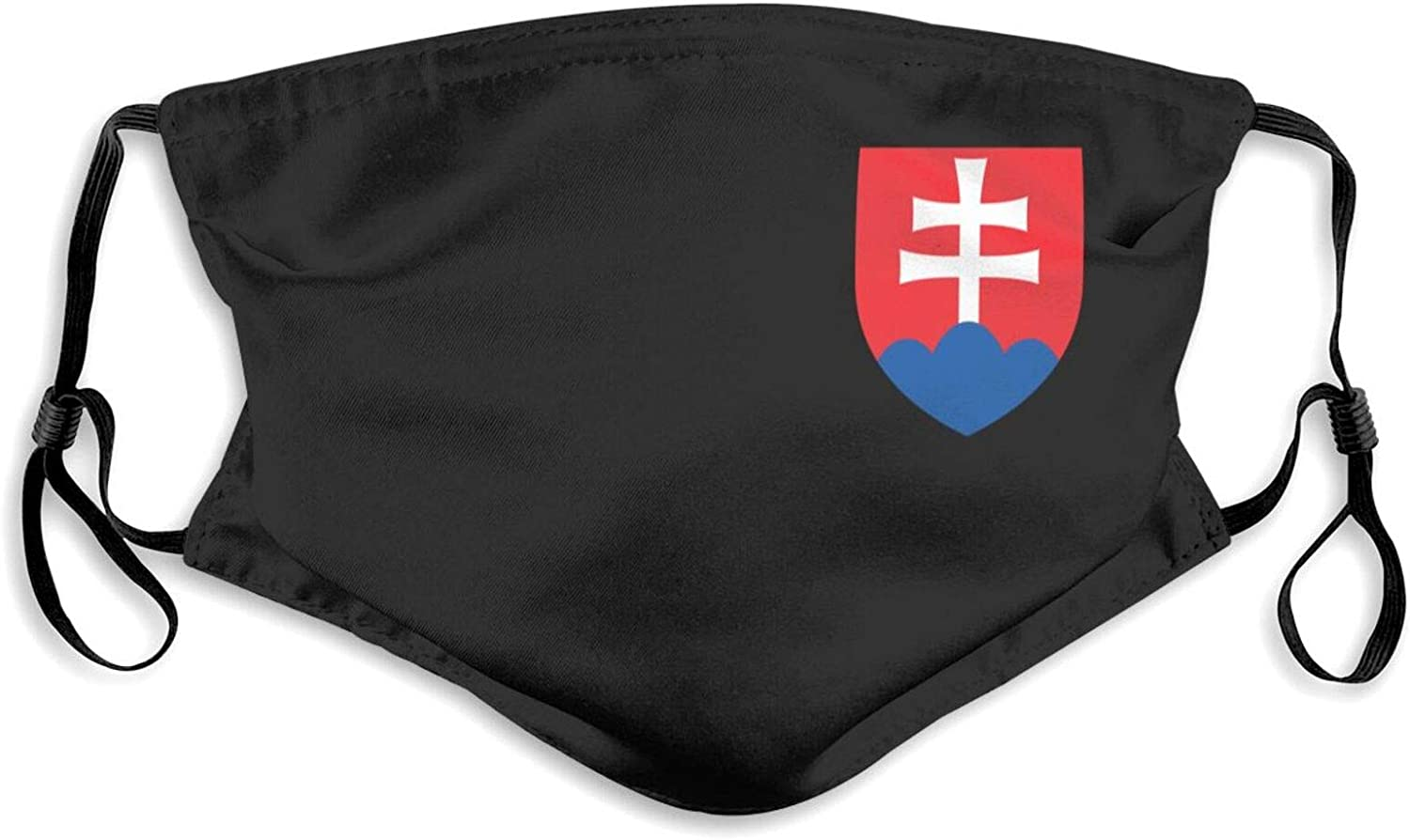 Reusable Face Mask, Slovak Flag Unisex Adult Balaclava with Two Replaceable 5-Layer Activated Carbon Filters Adjustable Buckle