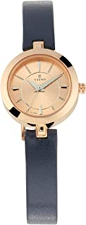 Rose Gold Dial Leather Strap Watch