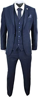 Mens Wool Tweed Peaky Blinders Suit 3 Piece Authentic 1920s Tailored Fit Classic