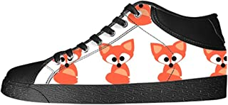 Dalliy Custom Fox Men's Canvas Shoes I Lacci delle Scarpe in Alto Sopra Le Scarpe da Ginnastica di Scarpe Scarpe di Tela.