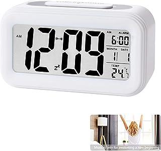 Reloj de Alarma Digital, LCD Pantalla Reloj Alarma Inteligente y con Pantalla de Fecha y Temperatura Función Despertador c...