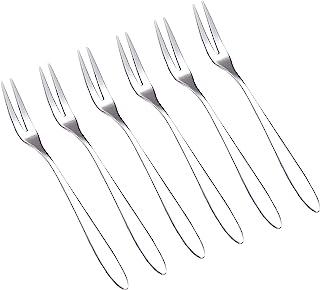6Pcs Cocktail Tasting Forks, Mini Fruit Appetizers Forks, Stainless Steel Forks for Escargot, Pastry, Cake