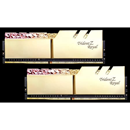 F4-4600C18D-16GTRG [Trident Z Royal 16GB (8GBx2) DDR4 4600Mhz (PC4-36800) CL18 1.45V Gold]