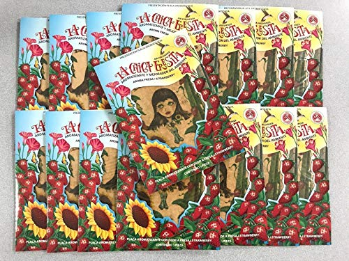 150PC LA CHICA FRESITA Car Air Freshener Strawberry Fresa Aroma BUNDLE