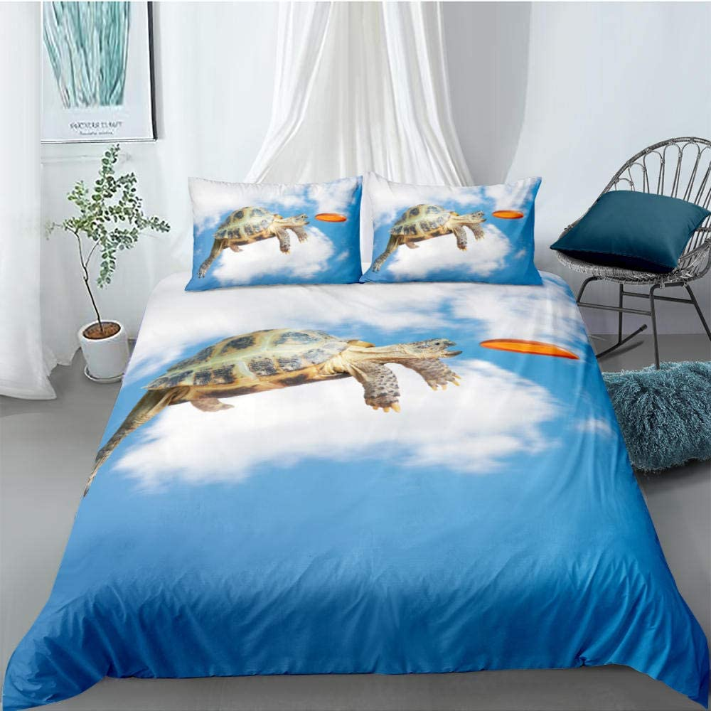 JCYUEDRN Sea Turtle All stores are sold Kids Bedding Purchase Cover Comfortable Duvet Set