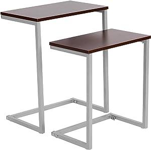 WOLTU® TSG15dc Tavolino da Salotto Moderno Tavolo da caffè Piano D'appoggio Scaffale per Camera Cucina Ufficio in Legno Metallo