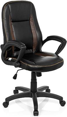 hjh OFFICE 621864 VINTAGE - Silla de oficina, piel sintética marrón