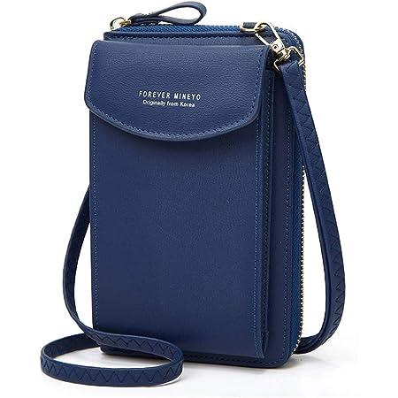 Handytasche zum Umhängen,Aeeque Damen Handy Umhängetasche Brieftasche PU Leder,Crossbody Tasche Geldbeutel kompatibel mit Huawei P30 Pro P30 Lite P20 Pro P20 P10 Lite/P Smart (2019) - Blau