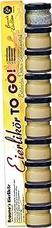 Braunes Eierlikör TO GO | Sonnenseite | 10 x 25ml zum Probieren! | Klötenköm, Likör aus Eiern, Eierschnaps, Advocaat, Avocat, Advocat, Likör mit Eizusatz, 79,96 / 1l 1er Pack/ToGo Stange