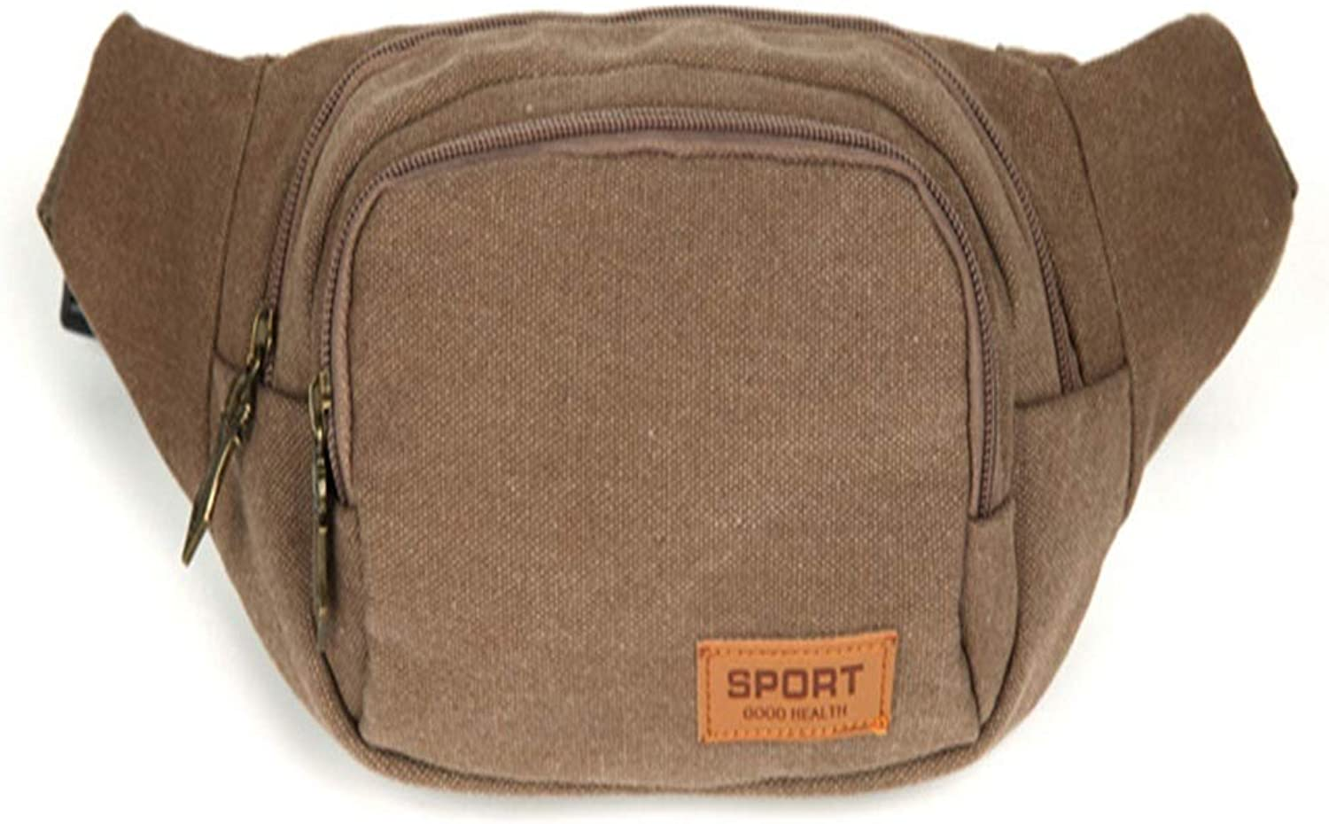 Outdoor Fanny Pack Fanny Pack BuyAgain Quick Release Buckle Travel Sport Waist Fanny Pack Bag Khaki Canvas Fanny Pack Travel Neck Pouch Hiking Camping Fishing Waist Bag