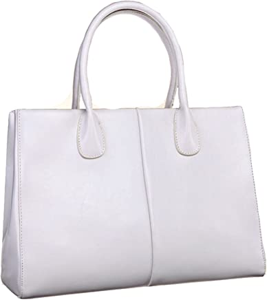 Heshe Womens Leather Work Totes Top Handle Bag Shoulder Handbags