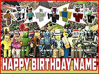 ROBLOX: Personalized edible Birthday Cake topper premium frosting sheets