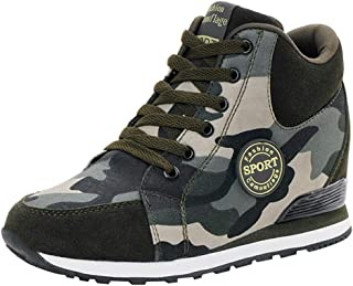 ❤️ Women Ladies Platform Sneakers,Canvas Camouflage Hidden Heels Wide Width Casual Walking Sports Running Shoes