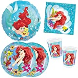 Kit Compleanno Sirenetta per 16 Persone - Ariel Festa Party