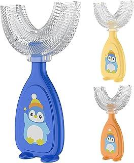 Benoon U-vormige tandenborstel, kinderen tandenborstel handvat 360 ° orale tanden reinigen, food grade zachte siliconen bo...