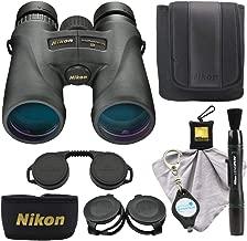 Nikon Monarch 5 12x42 Binoculars (7578) Compact Binocular, Black Bundle with a Nikon Cleaning Cloth, Lens Pen, and Lumintrail Keychain Light