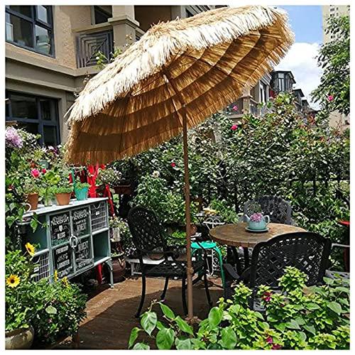 Homfure Sombrilla de Playa Jardín Exterior 1,8 M (6 Pies),Sombrilla Impermeable para Patio con Mecanismo de Inclinación, para Sombrilla para Jardín, Piscina, Patio, Patio