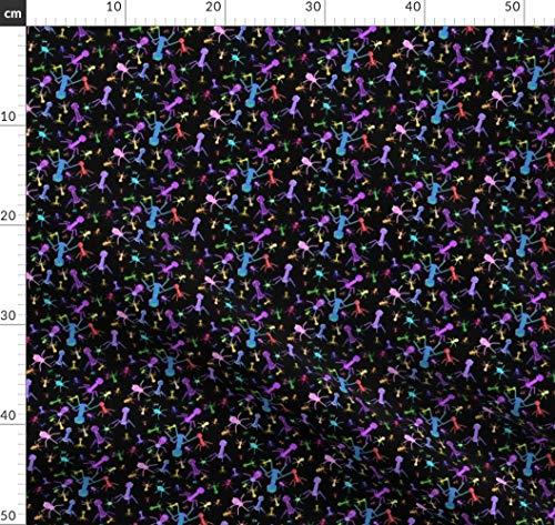 Virus, Mikroskopisch Stoffe - Individuell Bedruckt von Spoonflower - Design von Will La Puerta Gedruckt auf Baumwollstoff Klassik