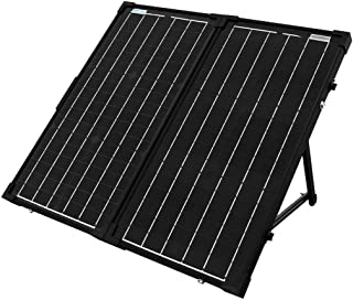 ACOPOWER HYS60-12MB 60W Foldable Panel, 12V Battery and Generator Ready Suitcase with Charge Controller Portable Solar kit